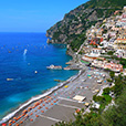 The beaches of Positano