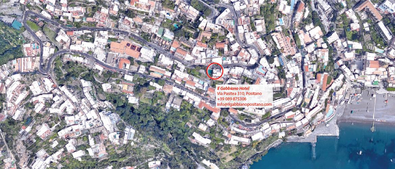 Il Gabbiano Hotel Positano - Map